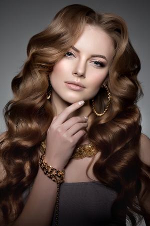 schöne frauen: High-Fashion-Modell Mädchen Lizenzfreie Bilder