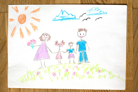 illustration and painting: Children drawing painting background.