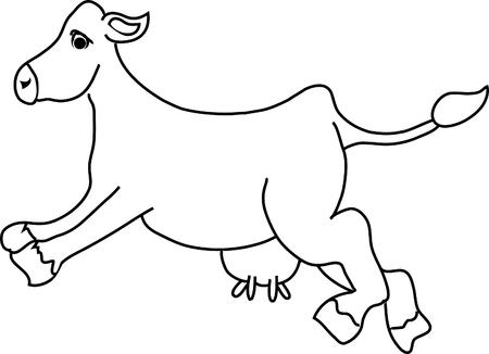 hoofed mammal: Jumping Cow