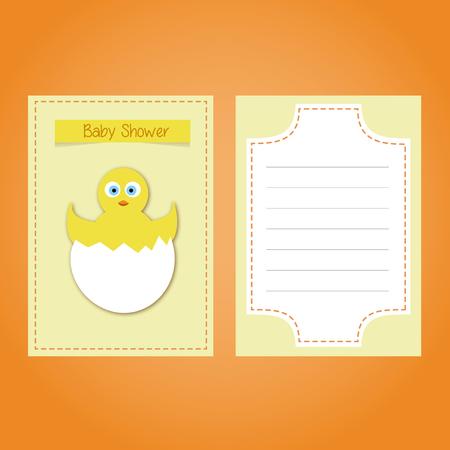 Baby shower card invitacion. Ilustração