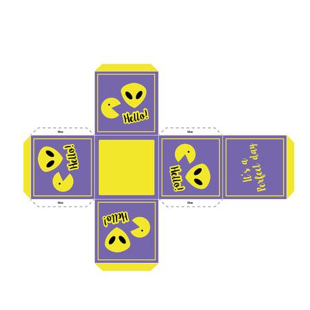 Box gift regalo caja. Ilustração