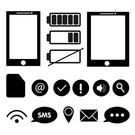 Celular phone icons. Ilustração