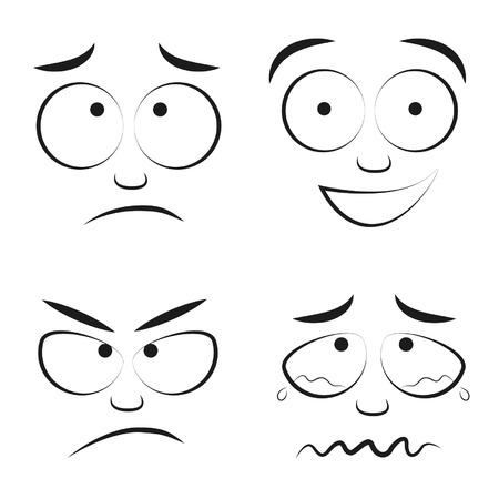 Caricatures eyes eyes cartoon Ilustração