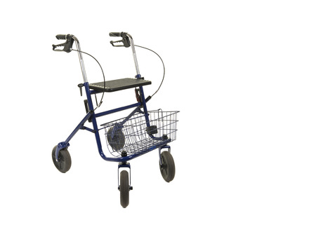 A walker with wheels isolated on a white background Banco de Imagens - 117563991