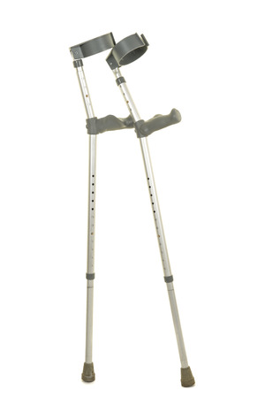 Pair of crutches isolated on a white background