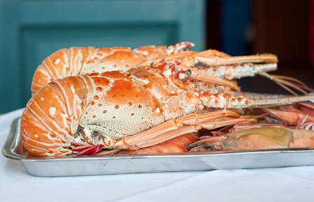 Fresh lobster plate Stock Photo