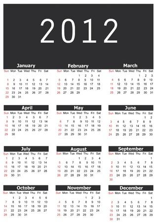 2012 calendar Stock Vector - 11429804