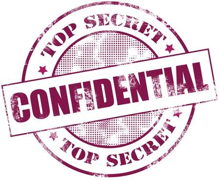 goma: Ilustrador sello de confidencial