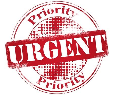 Urgent priority stamp illustration