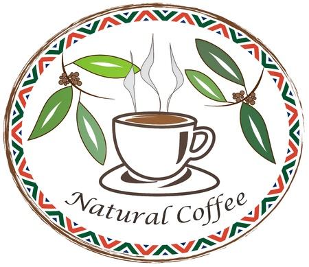 天然のコーヒー 写真素材