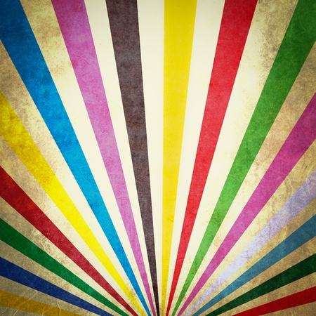 full frame: Multi color sunbeams grunge background poster