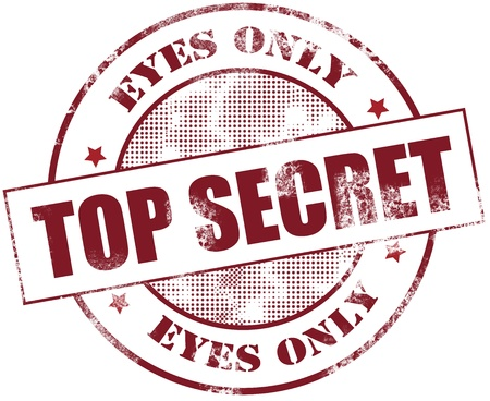 Top secret Stempel Standard-Bild