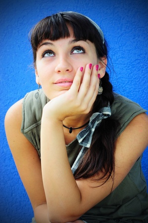 Image of a girl daydreaming Stock Photo - 13354940