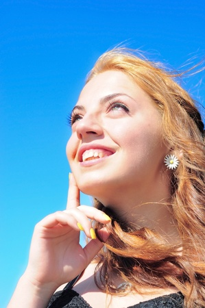 Image of a girl daydreaming Stock Photo