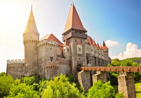 Gothic castle in Hunedoara  Transylvania