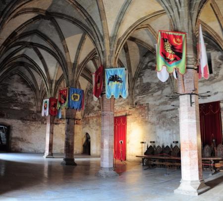 Knights room in hunyad Castle , Hunedoara  Editorial
