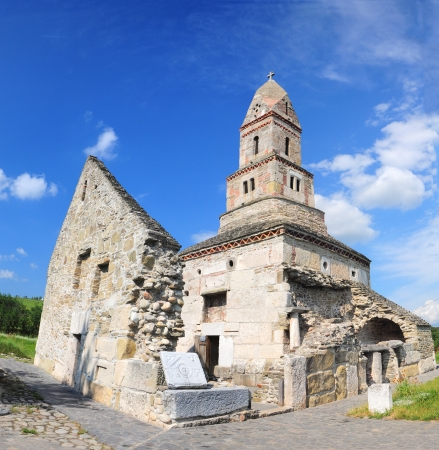 Densus Church - Romania  One of the oldest churches still standing in Romania Stock Photo