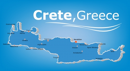 cyclades: Island of Crete Map, Greece