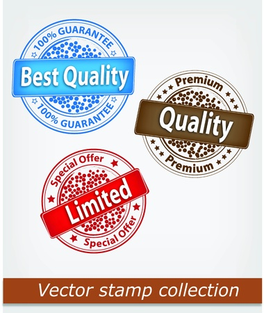 Quality stamp collection Illustration