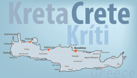 Insel Kreta vector map