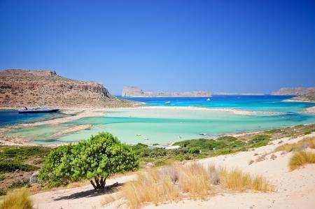 Balos Lagune und Gramvousa Insel, Kreta, Griechenland Standard-Bild
