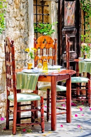 Griechische Taverne Standard-Bild