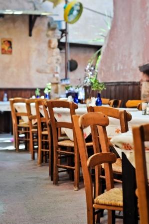 Greek tavern Stock Photo
