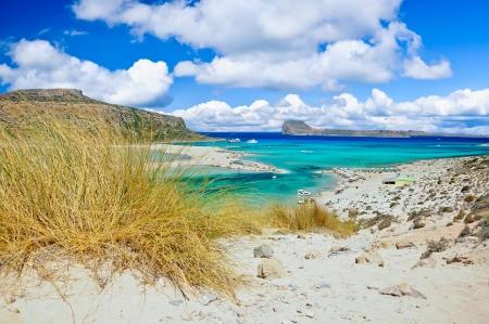 Balos lagoon and Gramvousa island, Crete, Greece Stock Photo