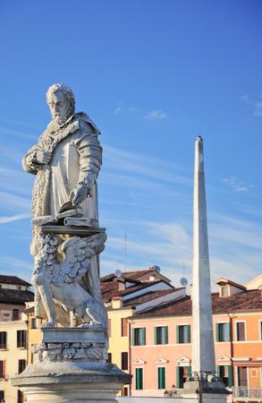 Venetian statue detail, in Padua, Italy