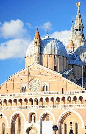 Brick church Sant Antonio da Padova, in Padua, Italy Stock Photo