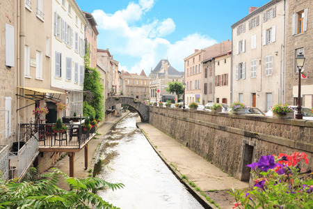 Small french town of Montbrison (Loire Forez)