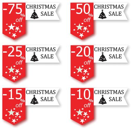 Christmas sale sign  イラスト・ベクター素材