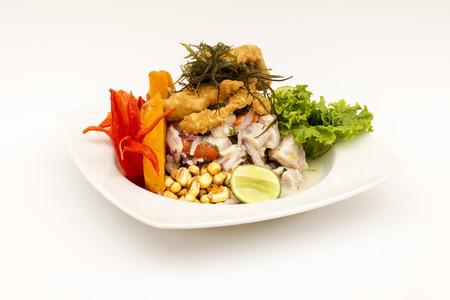 Peru Dish: Cebiche Ceviche and Stock Photo