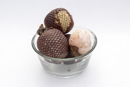 palm fruits: Exotic fruit of America: Aguaje or Moriche palm fruit mauritia flexuosa. Stock Photo