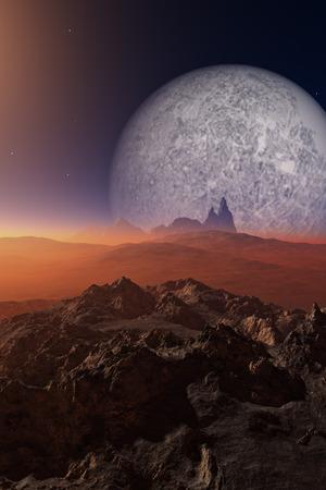 atmosfera: Ciencia-Ficci�n paisaje con extra�a atm�sfera