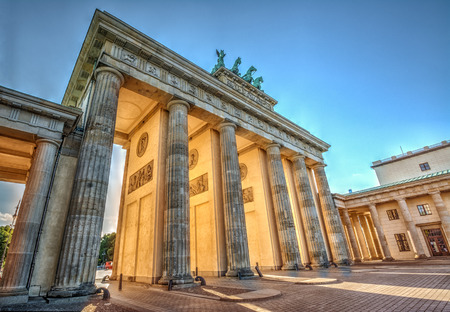 winning location: Brandenburg Gate at sunset, Berlin, Germany