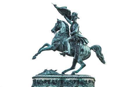 archduke: Statue of Archduke Charles of Austria at the Hofburg Palace in Vienna isolated on white background