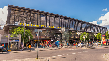 cold war: BERLIN, GERMANY - JULY 31, 2014: Berlin Zoologischer Garten (Bahnhof ZOO) railway station. This was the main train station in West Berlin during the Cold War. Editorial