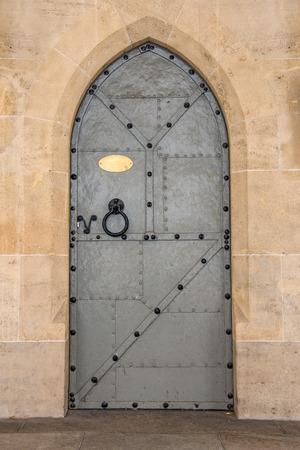 Old vintage iron door in Vienna, Austria. photo