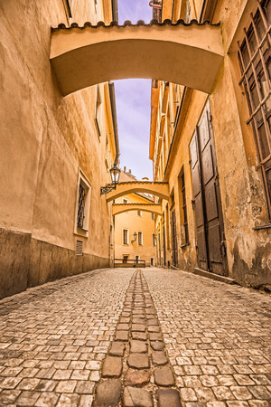 stare mesto: Pedestrian alley in Prague, Old town (stare mesto) Stock Photo
