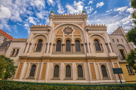 yiddish: Spanish Synagogue in Prague. It  is is a Moorish Revival synagogue owned by the Jewish Museum of Prague, and is used as a museum and concert hall.