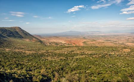 The Great Rift Valley from the Kamandura Mai-Mahiu Narok Road, Kenya, Africa 스톡 콘텐츠