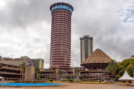 NAIROBI, KENYA - OCTOBER 20, 2014 : Kenyatta International Conference Centre located in the central business district of Nairobi 報道画像