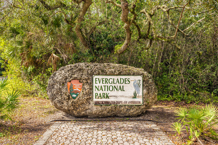 Everglades national park: Entrance Sign in the Everglades National Park, Florida