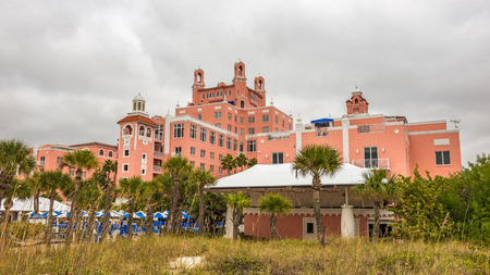 the national trust: ST. PETERSBURG, FLORIDA - JANUARY 14, 2015 : Loews Don CeSar Hotel located in St. Pete Beach. It is a member of Historic Hotels of America, the program of the National Trust for Historic Preservation. Editorial