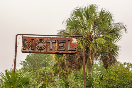 Rustic Neon Motel Sign in Florida, United States
