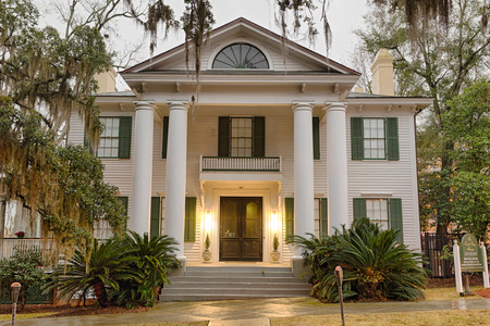 Tallahassee: TALLAHASSEE, FLORIDA - JANUARY 16, 2015 : Knott House Museum located in the Park Avenue Historic District. It was used as the headquarters of the Union Army during the American Civil War.