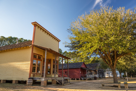 western culture: Old houses in the historic landmark park near Dothan, Alabama