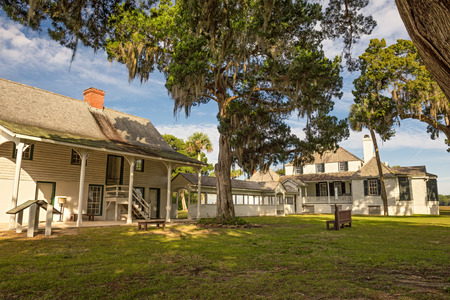 JACKSONVILLE, FLORIDA - JANUARY 18, 2015 :  Kingsley Plantation in Jacksonville. It was built in 1797 or 1798 and named after an owner, shipping magnate and slave trader Zephaniah Kingsley. 에디토리얼
