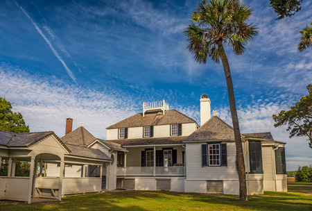 magnate: JACKSONVILLE, FLORIDA - JANUARY 18, 2015 :  Kingsley Plantation in Jacksonville. It was built in 1797 or 1798 and named after an owner, shipping magnate and slave trader Zephaniah Kingsley. Editorial
